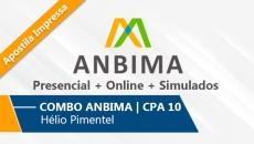 COMBO ANBIMA | CPA 10 - 6 Aulas Presenciais + Online + Simulado | Com Apostila