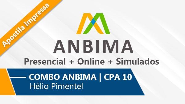 COMBO ANBIMA   CPA 10 - 6 Aulas Presenciais + Online + Simulado   Com Apostila