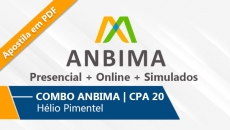 COMBO ANBIMA | CPA 20 - 6 Aulas Presenciais + Online + Simulado | Sem Apostila